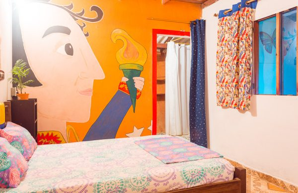 Minca Hostel Colibri Double Room beds